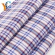 Custom men's soft cotton plaid t shirt woven fabric