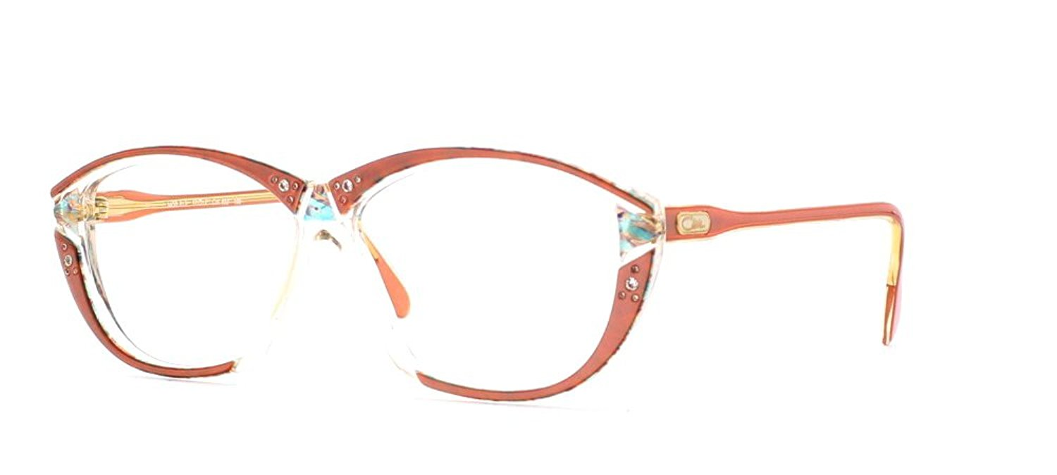 42ac075bd1c Get Quotations · Cazal 313 632 Clear and Pink Authentic Women Vintage Eyeglasses  Frame