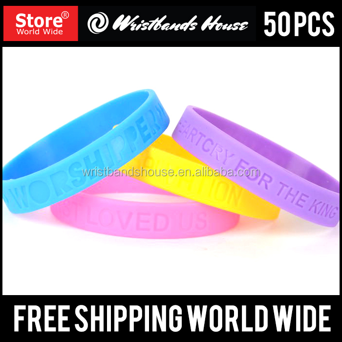 Popular wrist-band| Newest wristbands printed bands | All sizes of Customized printed silicone bracelet