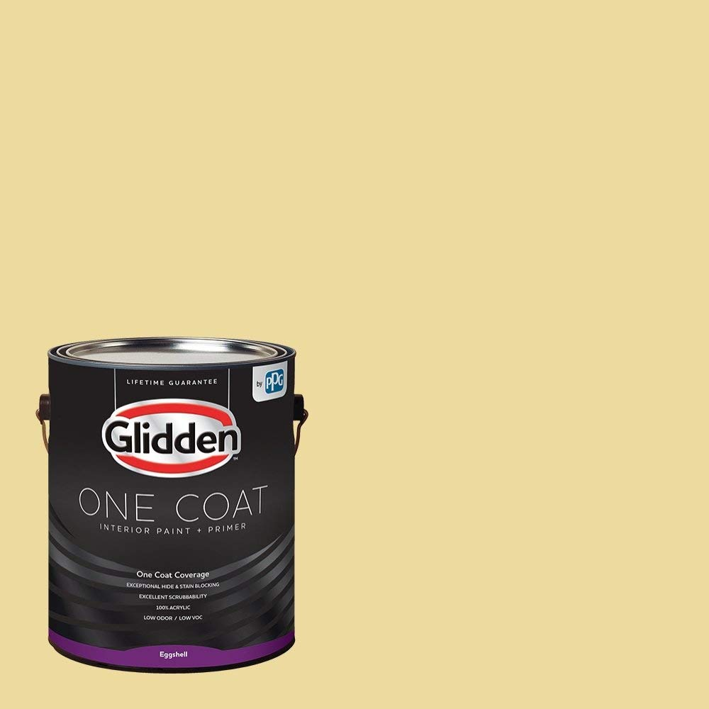 Get Quotations Yellow Interior Paint Demeter 1 Gallon Eggshell Glidden One Coat Primer