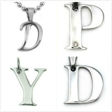 Diamond and plain Letter D Initial Charm Pendant Fashion Jewelry Exporter