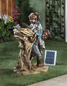 Whimsical Children Fountain-solar,outdoor Water Fountain,water Fountain,children Playing Water Fountain,fiber Glass Water Fountain