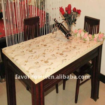 New Design Luxury Plastic PVC Table Cover