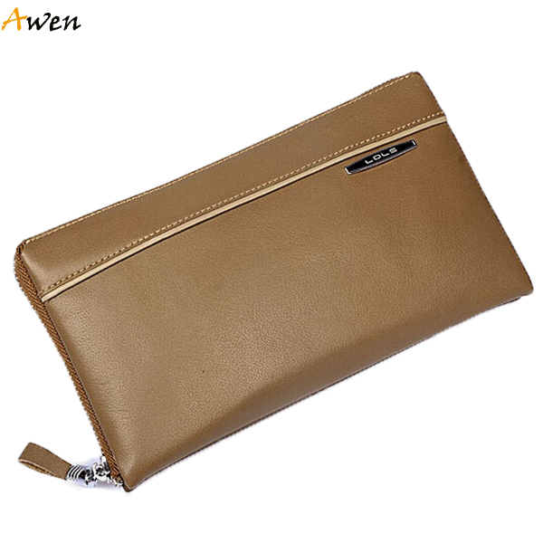 Awen hot sell multi-fonction real skin mens clutch wallet,luxury genuine leather wallets for men,casual business mens wallet
