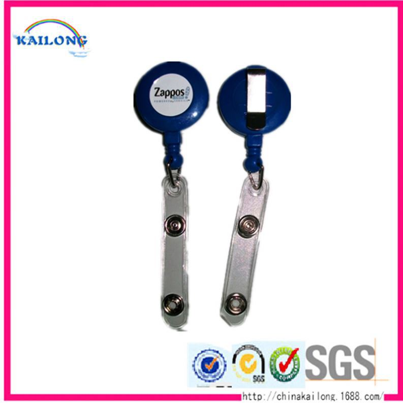 China Wholesale Aluminum Carabiner Retractable Badge Reel Holder