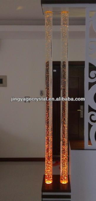 Columnas de burbujas de vidrio para decoracion de for Productos de decoracion de interiores