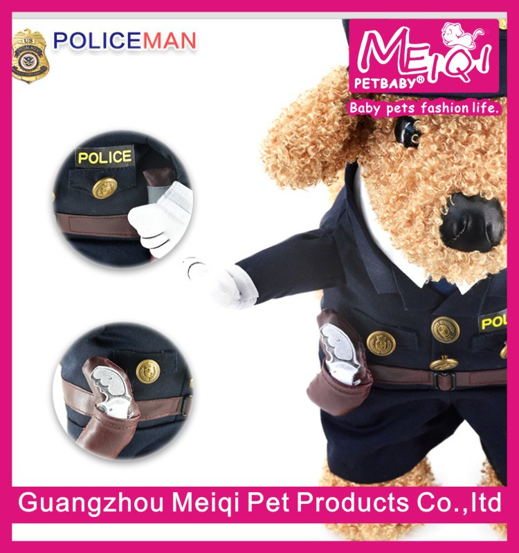 Police dog clothes cheap pet clothes factory dog costume clothes for dog