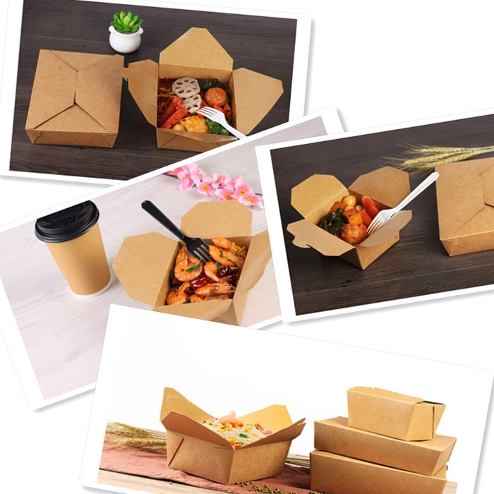 Disposable Take Away Paper Hot Food Containers