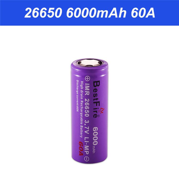 3,7V Li-Ion-Akku für E-zigaretten Set 2x Efest Purple IMR 26650 5000mAh 3,6V