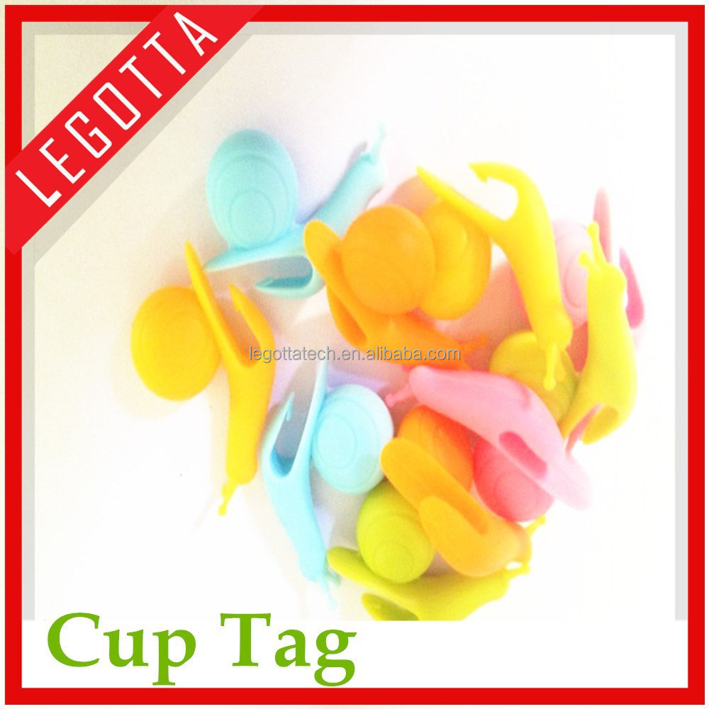 New Business Ideas Hot Selling New silicone wine cup tag for sale