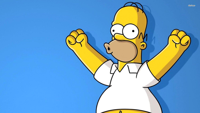 Cartoon world F2849 Homer Simpson Cartoon A1 poster printing london 24 Inch x42 Thin Canvas