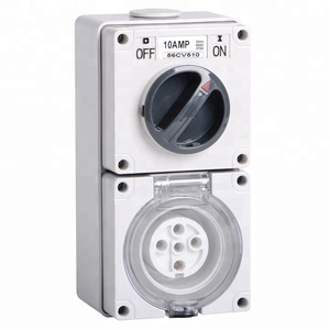56CV532 5 round pin 250V/500V 32A Electric waterproof industrial Combination switch socket