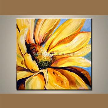 groothandel handgemaakte acrylschilderijen van zonnebloemen - buy