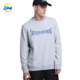 Urban clothing regular plain simple design crew neck long sleeve sweatshirt for man with embiordery letter logo on front online