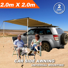 2Mx2M Offroad Roof Top Tent Waterproof Car Roof Rack 4x4 Side Awning For Camping