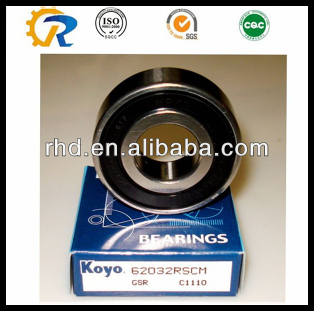 Japan koyo deep groove ball bearing 6302 RMX 10.2*42*13mm
