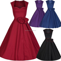 Plus Size M-XXXL 50s 60s Retro Vintage Rockabilly Swing Pinup Dress