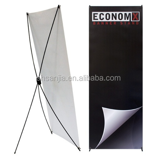 Iron Display Frame Banners Advertising X Banner Stand light weight X banner stand