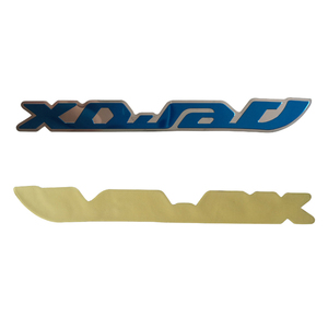 high quality custom metal logo stickers embossed car label tags small permanent adhesive metal name tags brand logo plates