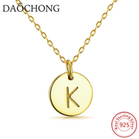 Fashion new arriva gold K word letter charm pendant necklace