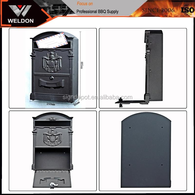 Outdoor Hot Sale Wall Mounted Aluminium Casting Perunggu Kotak Surat dengan Kualitas Yang Baik untuk Huruf, Koran, Majalah
