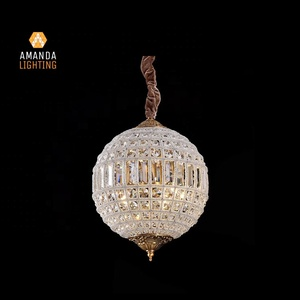 "19TH C.Casbah Morocco Crystal Light Sparkling Lanterns Chandelier 12"" For Hotel Living Room"