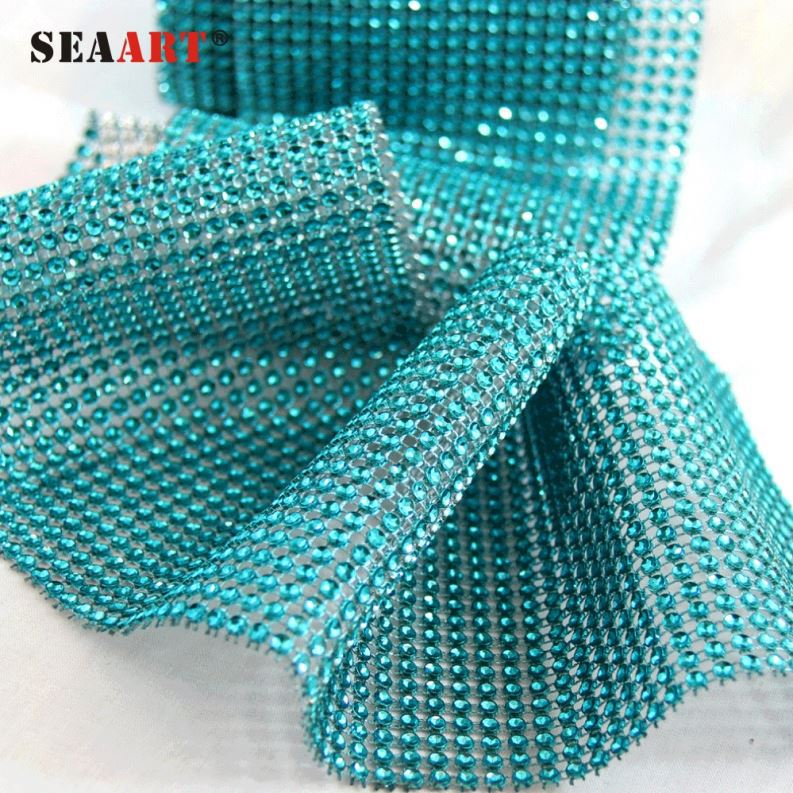 Stretch Crystal Rhinestone Mesh Trim For Clothing