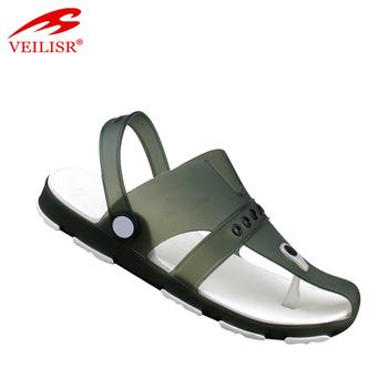 e235ae77807d Summer popular clear PVC footwear beach jelly shoes men sandals ...