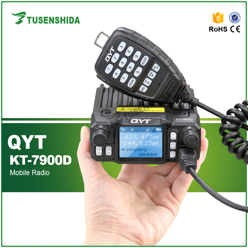 Mini 25W QYT KT-7900D Dual Band Quad-Standy Truck Mobile Radio with External MIC