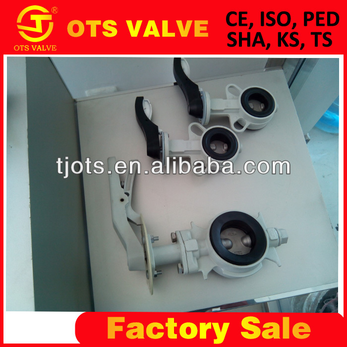 replaceable soft seat butterfly valve wafer type for water oil and <strong>gas</strong>