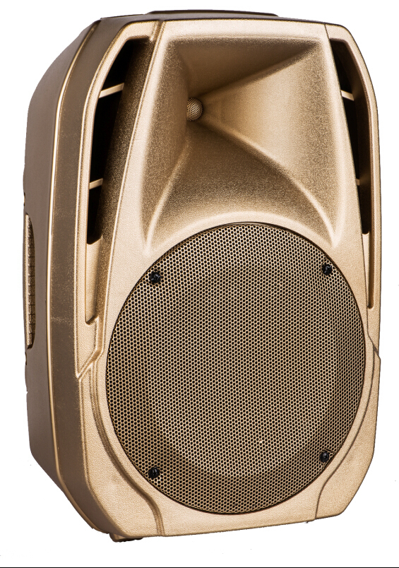 Luxury Golden Color Portable Pa Speaker System 15 Inch Plastic ...