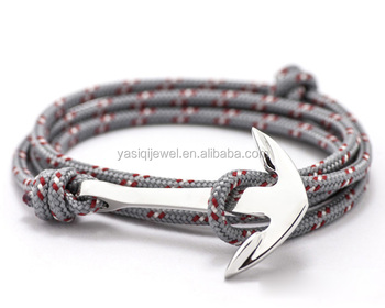 Custom Design Stainless Steel Jewelry Best Ing Fashion Nylon Nautical Bracelet