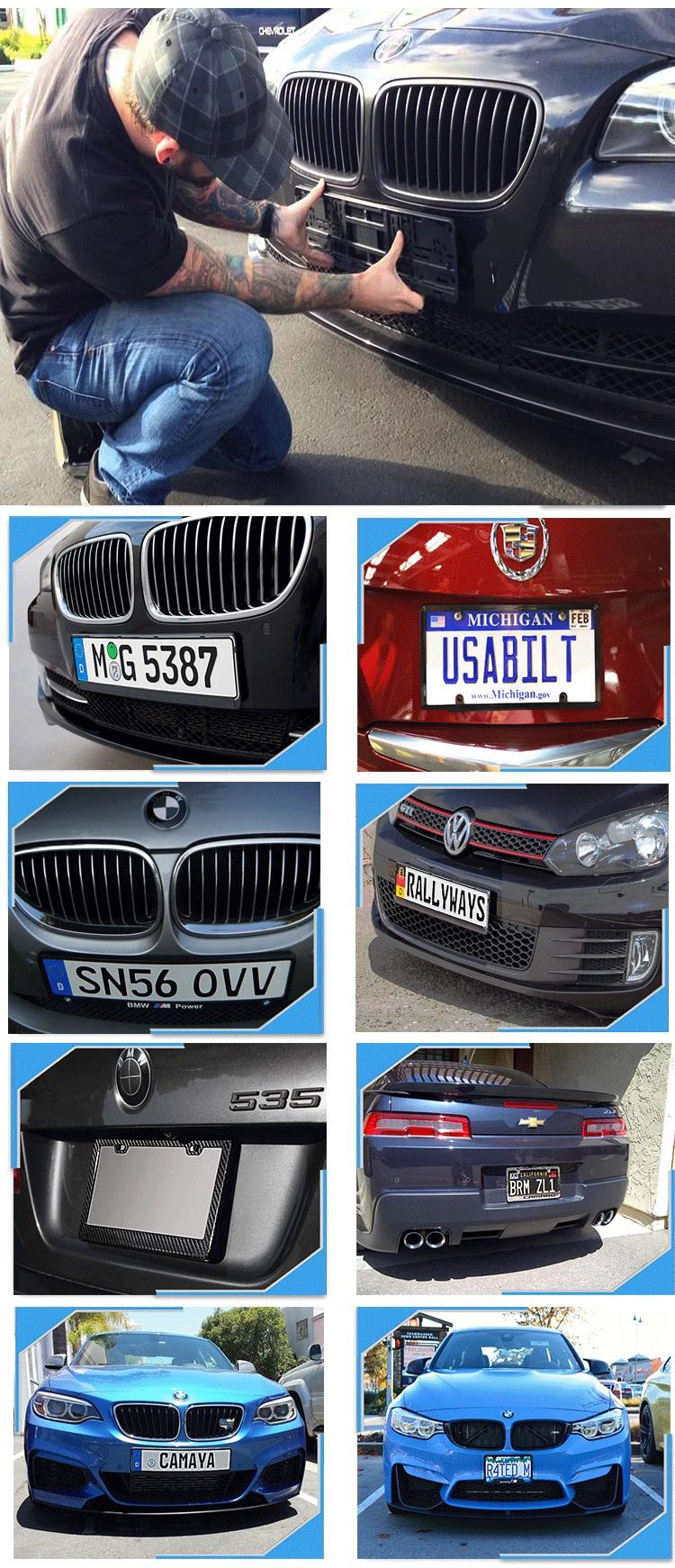 European Standard Stainless Steel License Plate Frame - Buy European ...