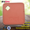 Free design good quality brown leather coasters