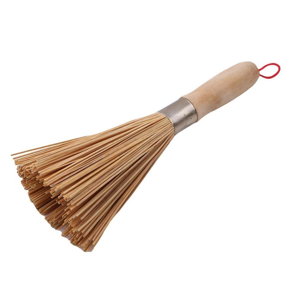 Dolland Handmade Bamboo Dish Brush Kitchen Scrub Brushes Cleaning Brush Strong Decontamination Wash Pot Brush Brush Wash Brushes Home Cleaning Tool