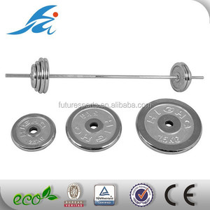 Electroplated cast iron barbell plates