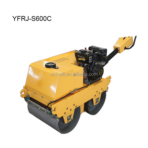 Cheap Walk Behind Vibratory Double Drum Tarmac Roller YFR-S600C