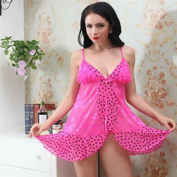 Women Erotic Mesh China New Style Women Gothic Polka Dot Lingerie