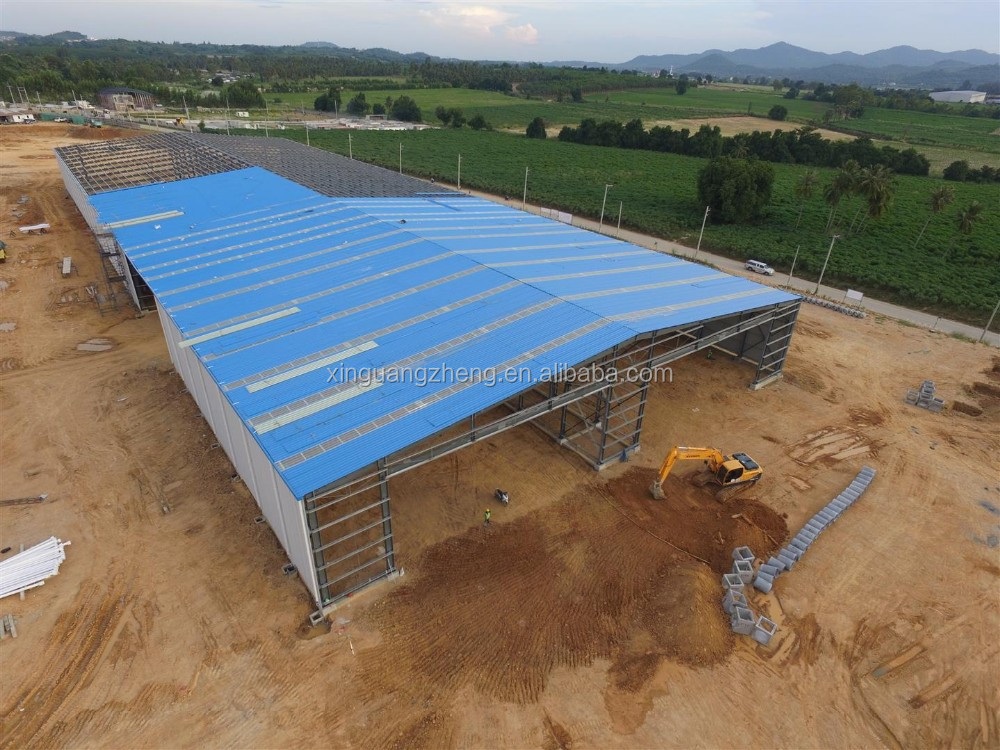 fireproof waterproof pre-engineered steel structure cheap warehouse