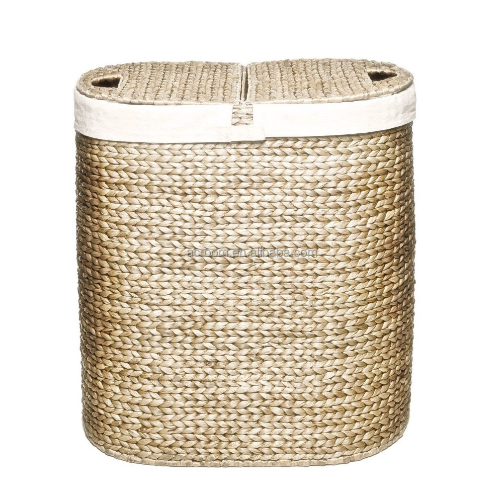 Seagrass Water Hyacinth Decorative Laundry Basket In