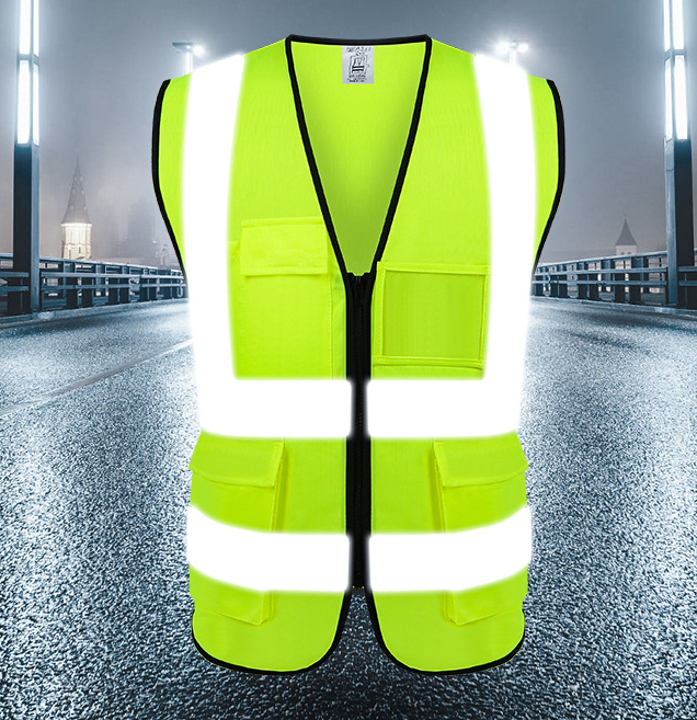 Wholesale 100% Polyester Custom Traffic Road Work Construction Security High Visibility Reflective Safety Vest with Logo