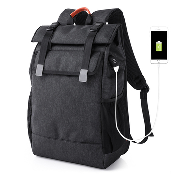personality mens travel usb charging laptop backbag custom backpack with logo