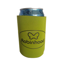stitched customized branded logo printing neoprene beer can coolers