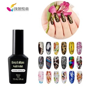 OEM/ODM Ultrabond nail art design UV/LED gel polish bottle Transfer Printing Gel with sticker