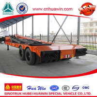 Hot selling 16 wheel argo bogie low bed semi trailer rod chasis