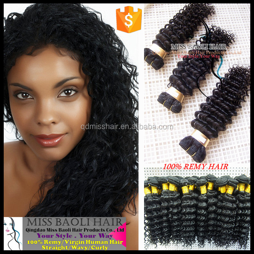 Double Weft 2016 Best Selling 100% Virgin Hair Wholesale Factory Price Deep Wave Brazilian Human Hair