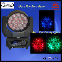 Good Quality Factory Supply RGBW LED 19pcs 12w Beam Aura Wash Zoom Moving Head Light/sharpy moving head light
