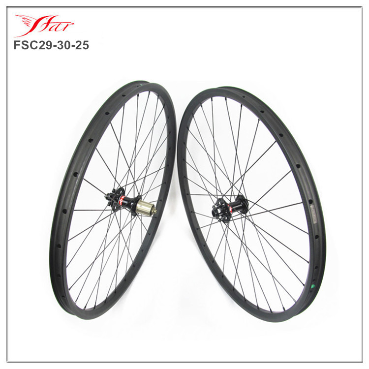 Factory Price Chinese carbon mountain bike wheels 29 inch 700C full carbon mtb wheelset 30mmx25mm clincher with Novatec disc hub