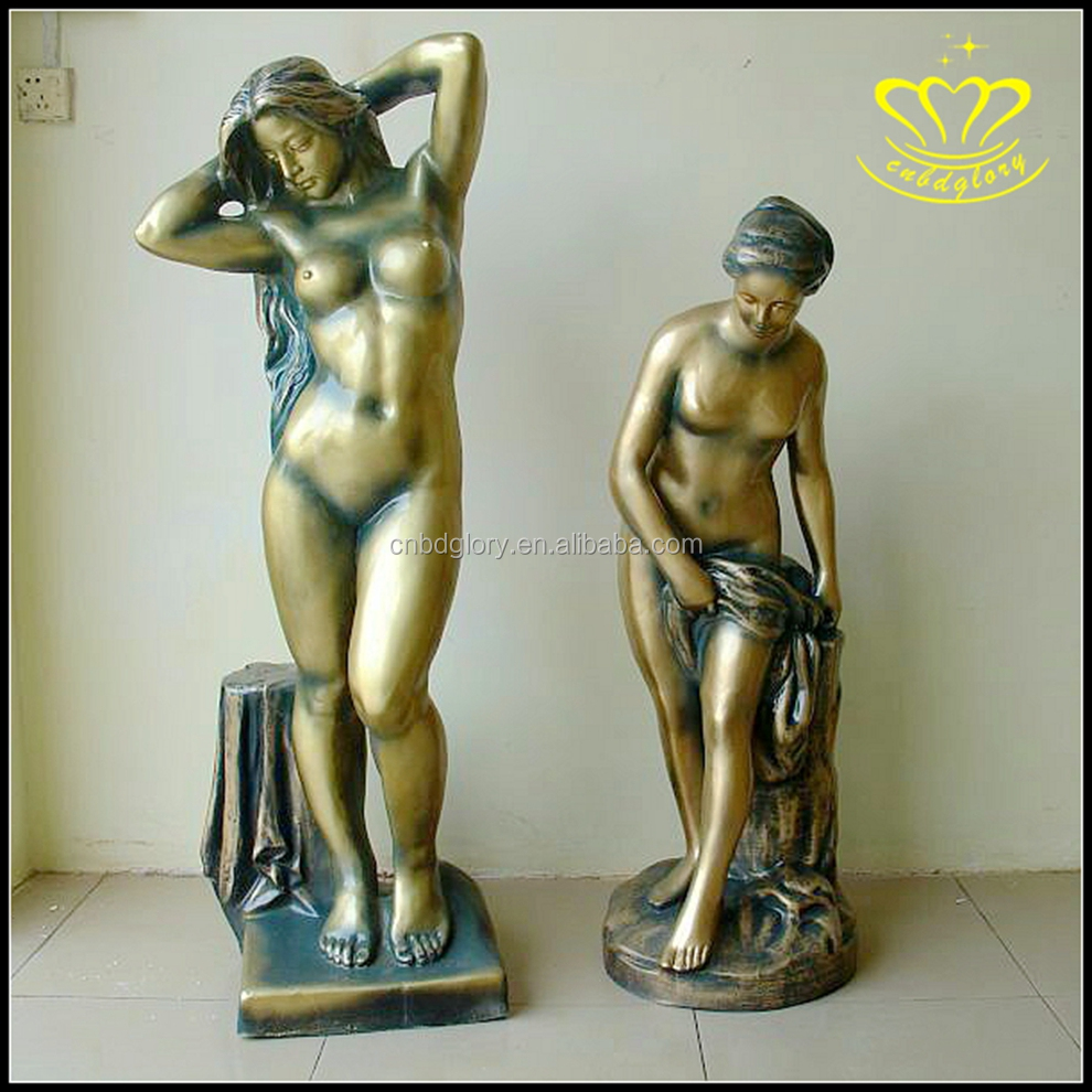 European large Metal bronze fiberglass character Aphrodite statue for Hotel Plaza decoration
