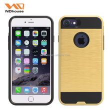 Alibaba wholesale brushed metal texture case drop protect cellular accessories for Apple iphone7